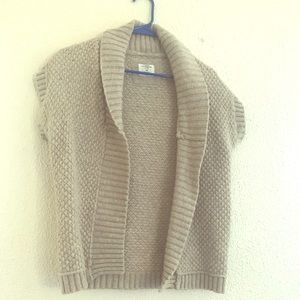 Tan sleeveless sweater